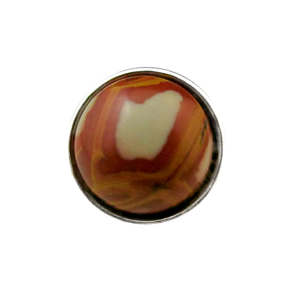 18mm Gemstone Snap Button Collection - Australian Mookaite