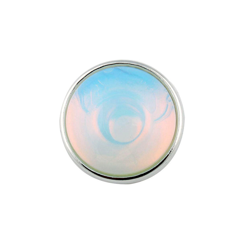 18mm Gemstone Snap Button Collection - Opalite (man made)
