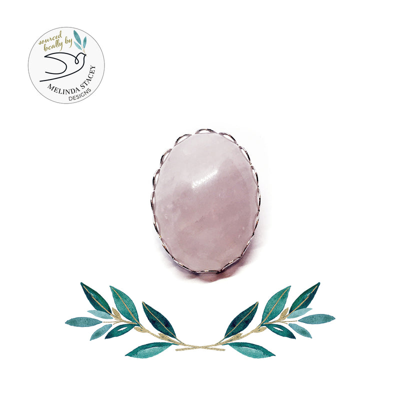 18mm Gemstone Snap Button Collection - Rose Quartz