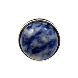 18mm Gemstone Snap Button Collection - Sodalite