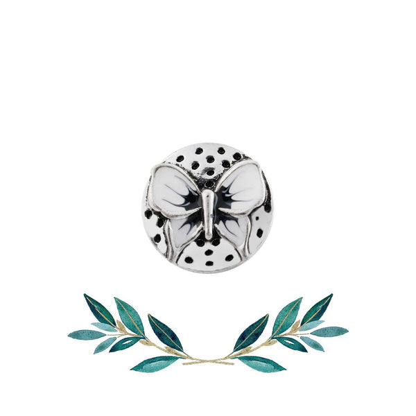 12mm Petite Animal Snap Button Collection - Enamel Butterfly