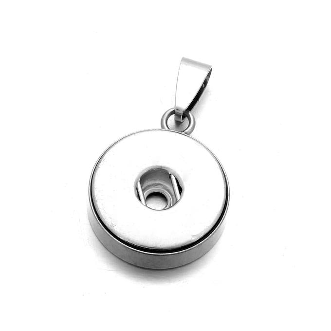 18MM Original Snap Button Pendant - Stainless Steel