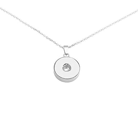 18MM Basic Stainless Steel Snap Button Pendant