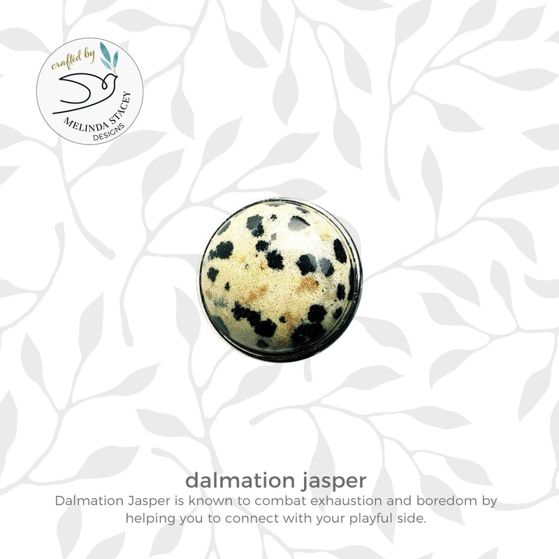 18mm Gemstone Snap Button Collection - Dalmation Jasper