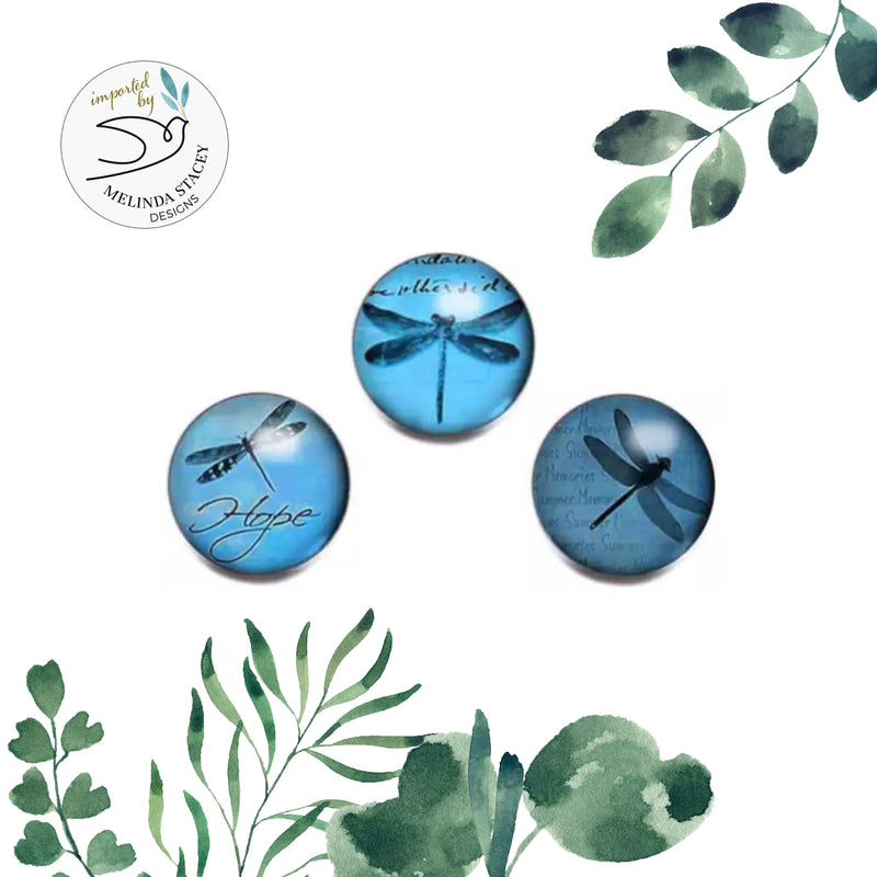 18mm Inspiration Snap Button Collection - Dragonfly