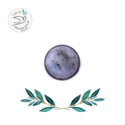 18mm Gemstone Snap Button Collection - Labradorite