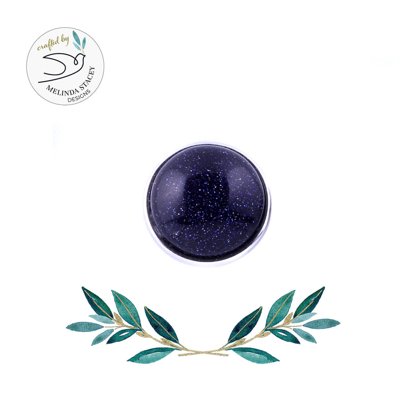 18mm Gemstone Snap Button Collection - Blue Goldstone