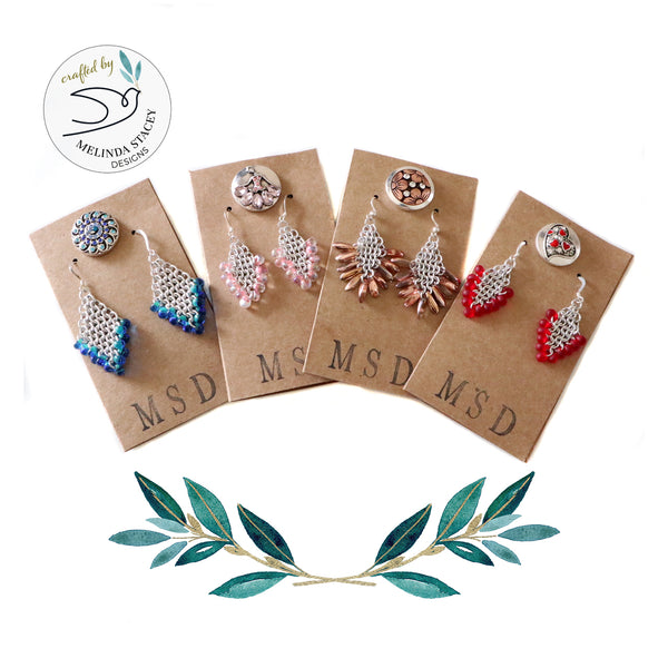 MSD Chainmaille Earring & Snap Button Gift Sets