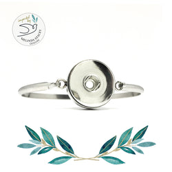 18mm Stainless Steel Snap Button Bangle