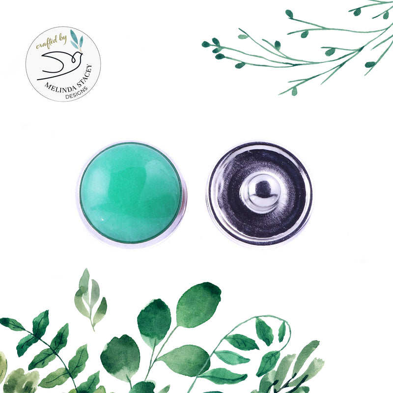 18mm Original Gemstone Snap Button Collection - Jade (Green)
