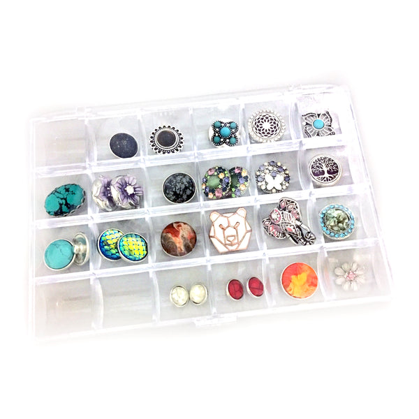 24pc Snap Button Storage Container