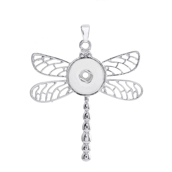 18mm Dragonfly Snap Button Pendant