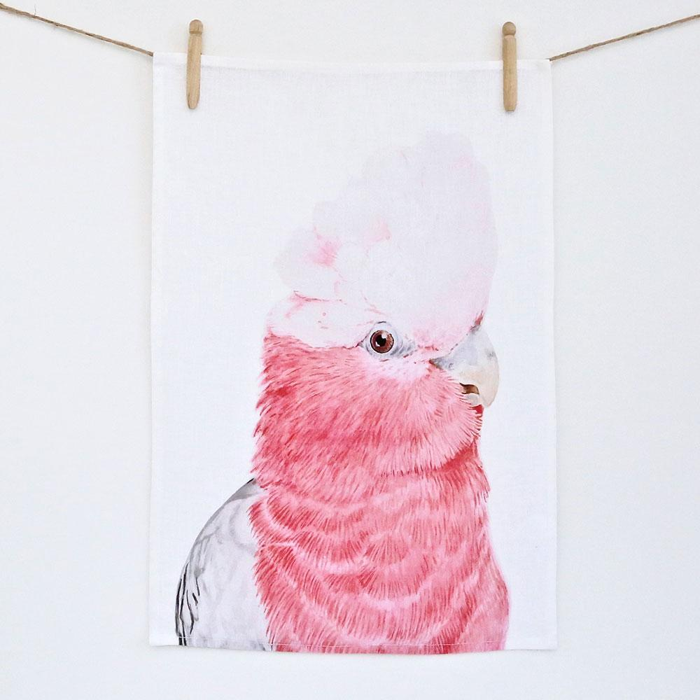 GARY THE GALAH TEA TOWEL