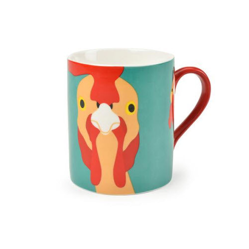 Plucky Fine China Chicken Mug