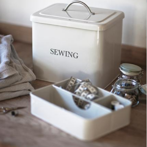 Chalk Sewing Box