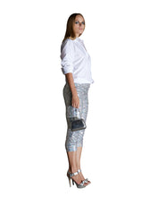 ¾ Length Silver Sequin Leggings