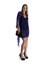 Sheer Purple Sequin Mini Skirt