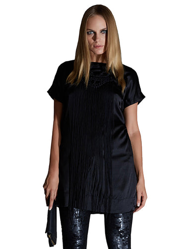 Black Silk Shift Dress