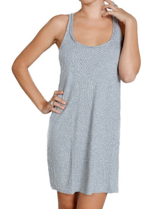 Light Grey Flared Sequin Racerback Dress