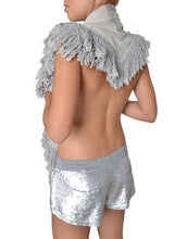 Loose Fit Silver Sequin Shorts