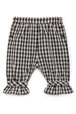 Baby Horizon Dress with Checkered Pants Set