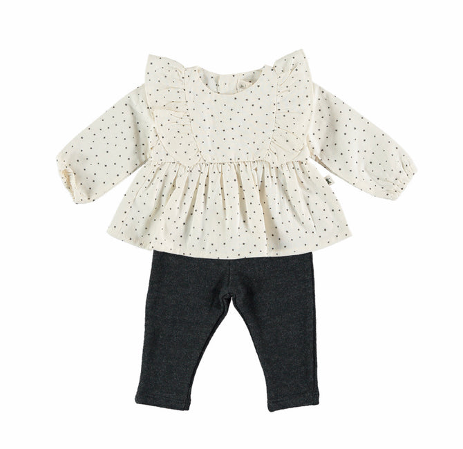 Ruffled Twinkle Blouse & Matching Leggings Set