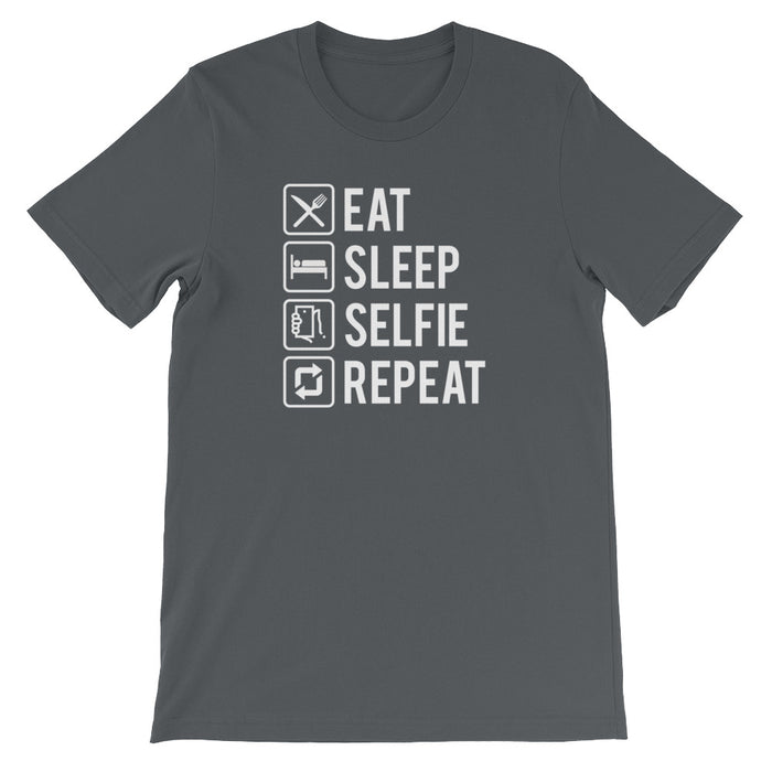 Eat Sleep Selfie Repeat Short-Sleeve T-Shirt