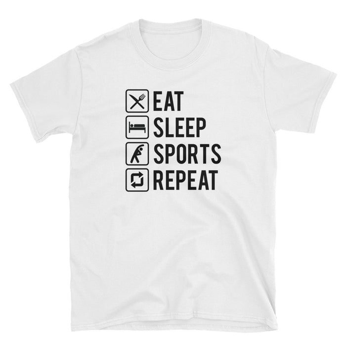 Eat Sleep Sports Repeat Short-Sleeve T-Shirt
