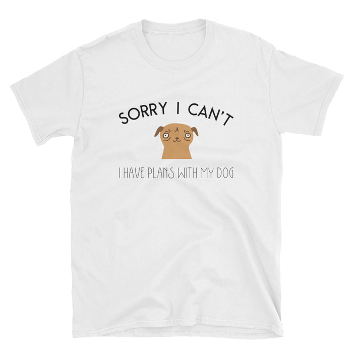 Sorry I Can't Short-Sleeve T-Shirt