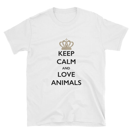 Keep Calm and Love Animals Short-Sleeve T-Shirt