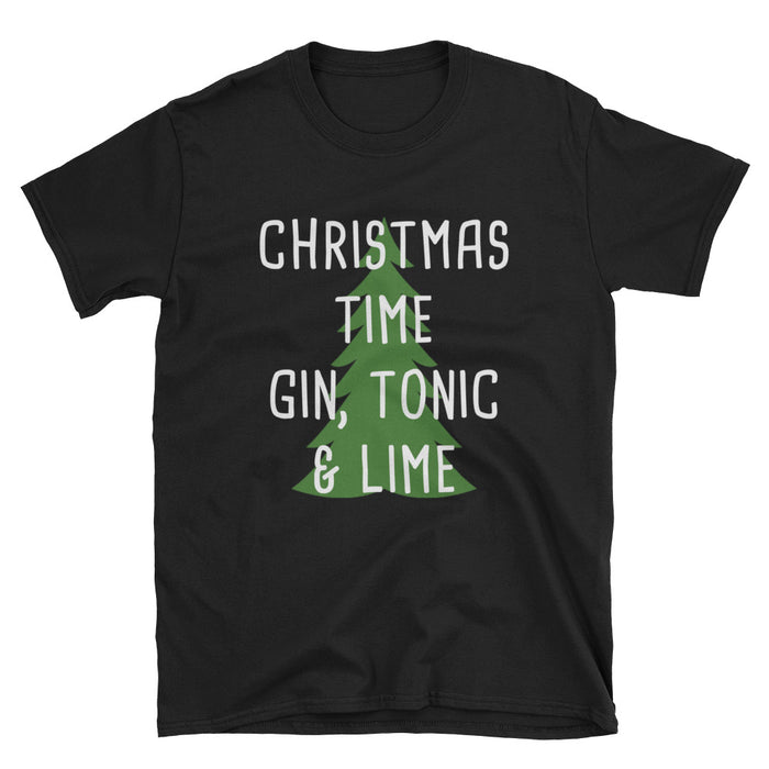Gin, Tonic & Lime Short-Sleeve T-Shirt / Christmas / Alcohol