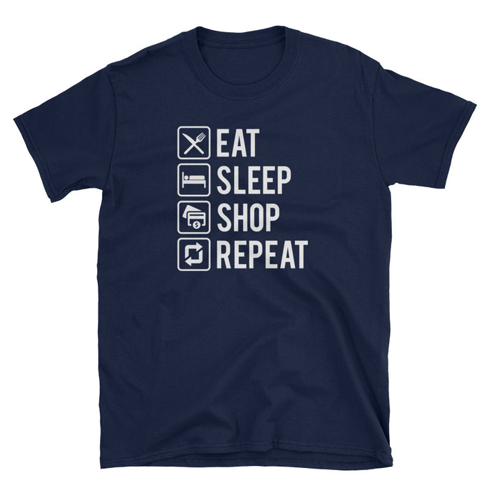 Eat Sleep Shop Repeat Short-Sleeve T-Shirt