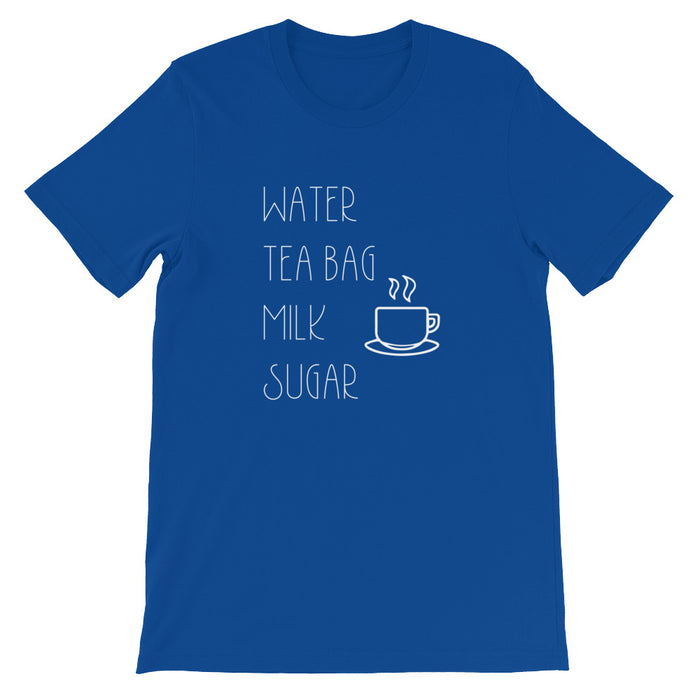 Water, Tea Bag, Milk, Sugar Short-Sleeve T-Shirt