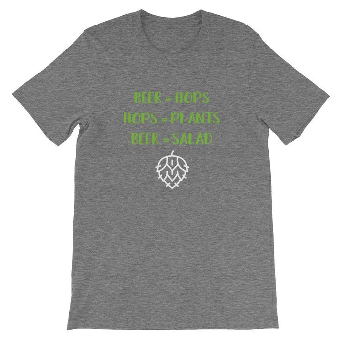 Beer = Salad Short-Sleeve T-Shirt