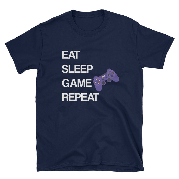 Eat Sleep Game Repeat Short-Sleeve T-Shirt