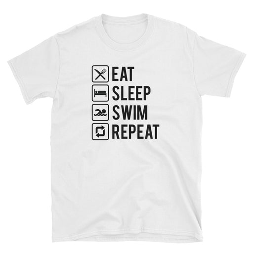 Eat Sleep Swim Repeat Short-Sleeve T-Shirt