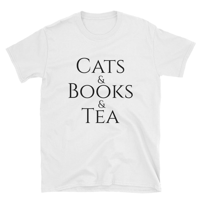 Cats & Books & Tea Short-Sleeve T-Shirt