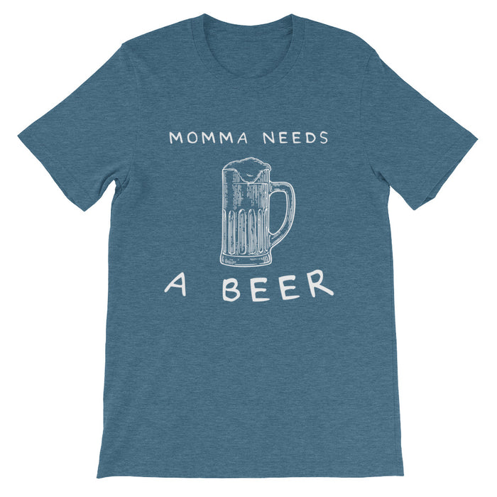 Momma Needs A Beer Short-Sleeve T-Shirt