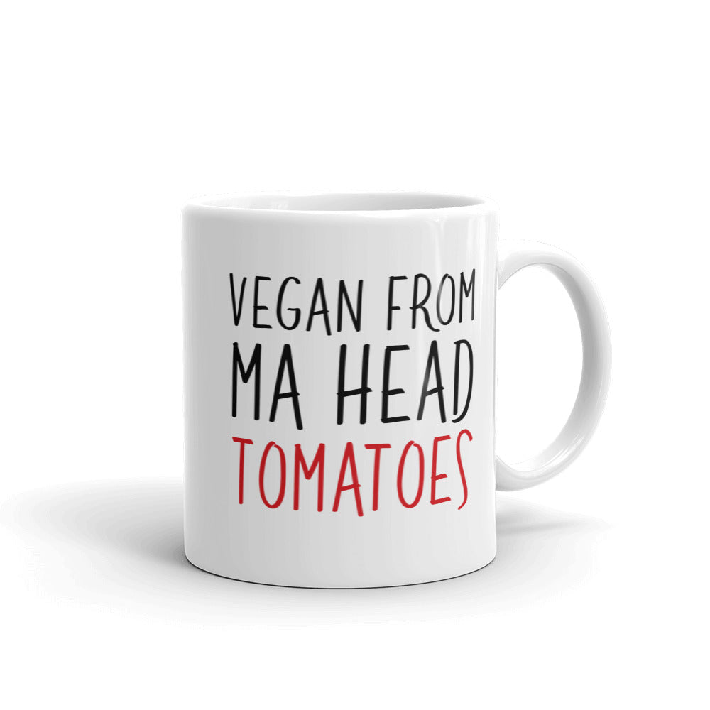 Vegan From Ma Head Tomatoes Mug