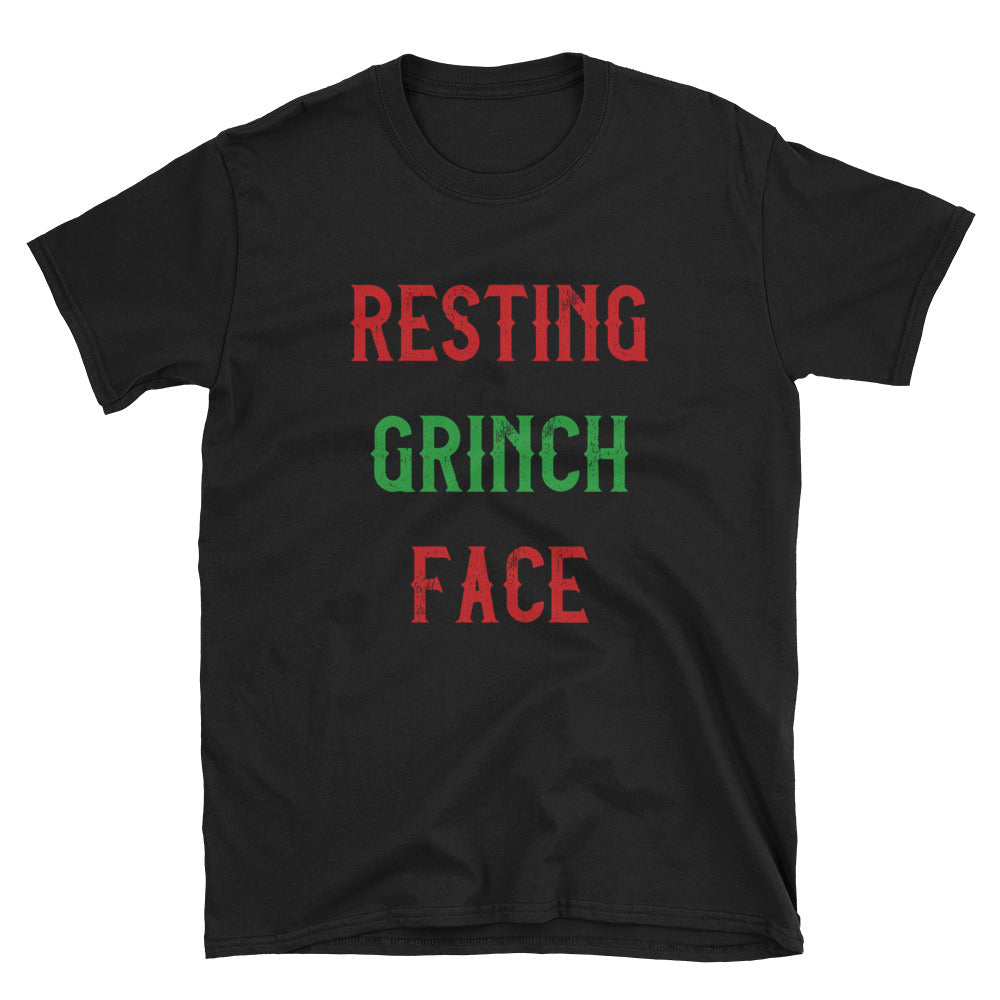 Resting Grinch Face Short-Sleeve T-Shirt