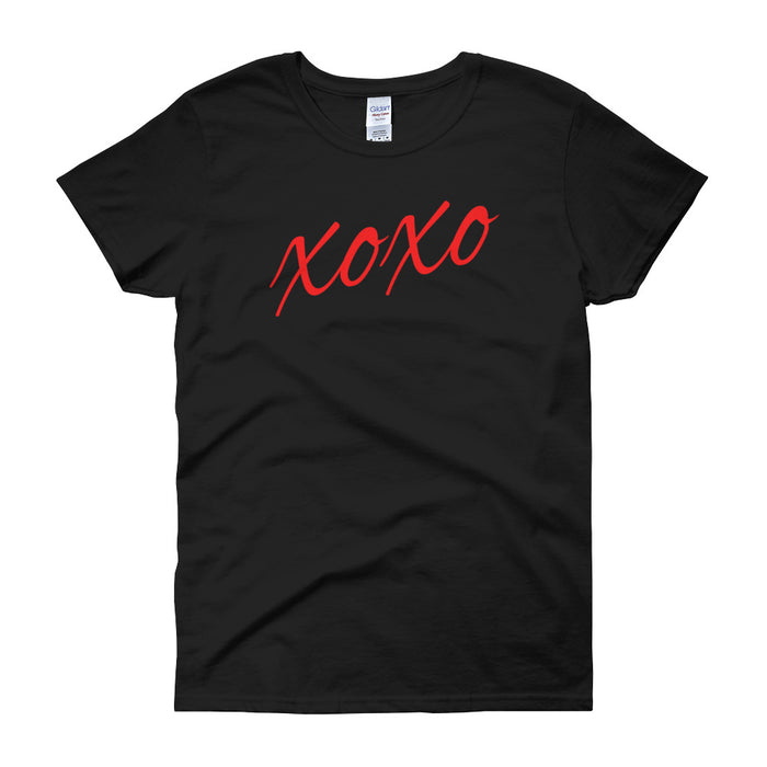 XOXO Love Valentines Ladies Short Sleeve T-Shirt