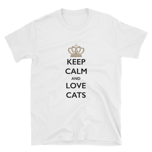 Keep Calm and Love Cats Short-Sleeve T-Shirt