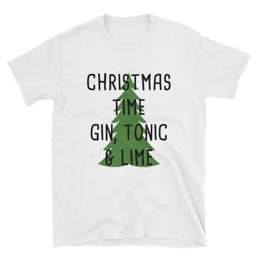 Christmas Time, Gin, Tonic ad Lime  Short-Sleeve T-Shirt