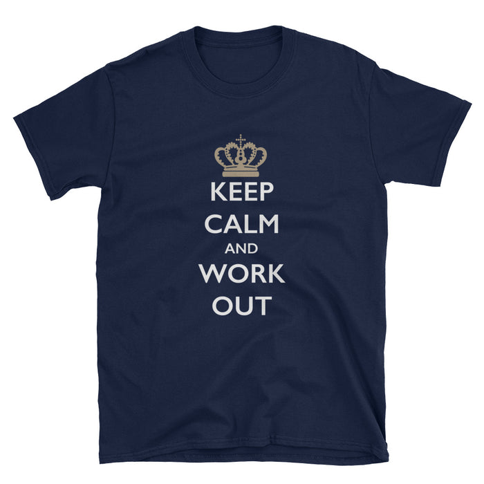 Keep Calm and Work Out Short-Sleeve T-Shirt