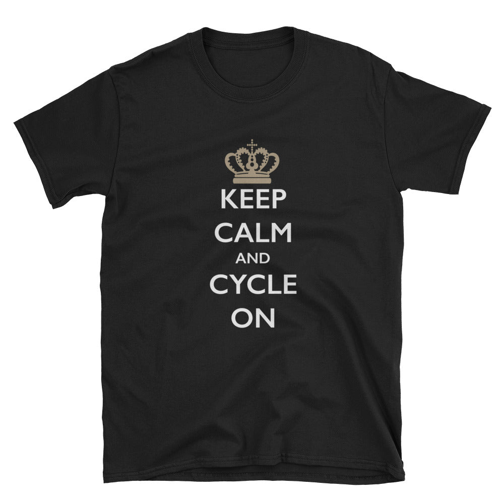 Keep Calm and Cycle On Short-Sleeve T-Shirt