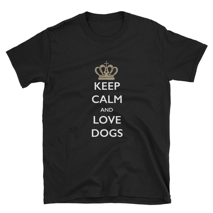 Keep Calm and Love Dogs Short-Sleeve T-Shirt