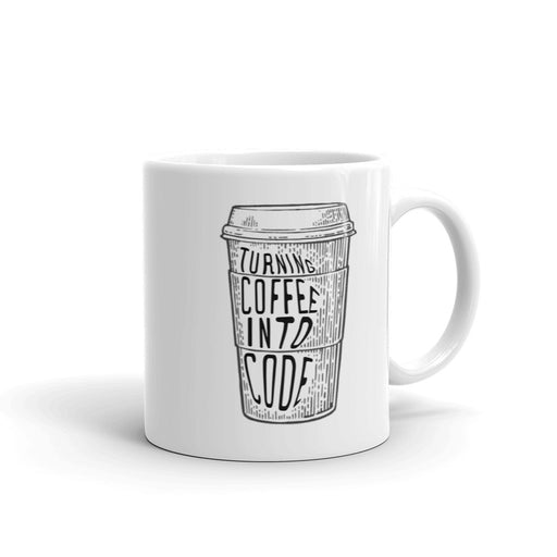 Turning Coffee Into Code Mug