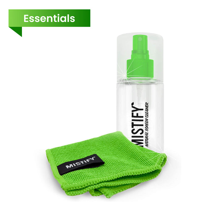 Mistify Natural Screen Cleaner 120ml (Inc. Antibacterial Microfibre Cloth)