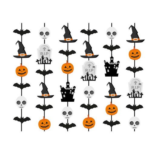 Cortina Decorativa Halloween c/6 - Cromus Festas