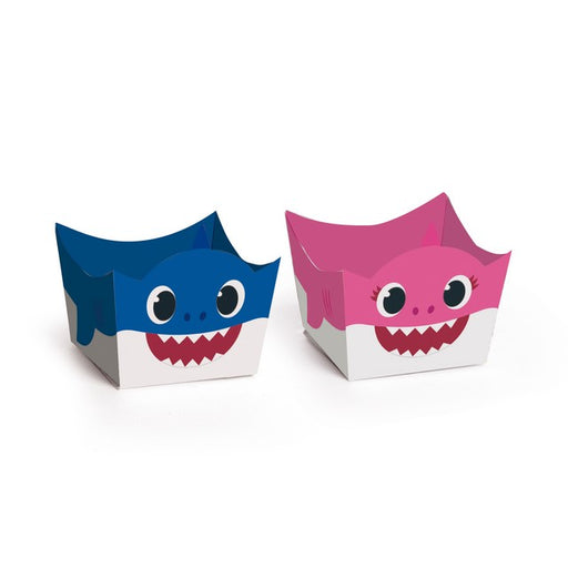 Porta Forminha Mommy and Daddy Baby Shark c/24 - Cromus Festas